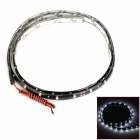 Waterproof 13.5W 270lm 6500K 45-SMD 1210 LED White Light Flexible Light Strip - Black (12V / 90cm)