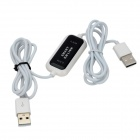 JPKM01 USB PC To PC Data KM Link Cable - White + Black (160CM)