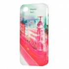 BASEUS UPAPIH4S-0P Graffiti Pattern Plastic Back Case for Iphone 4 / 4S - Red + Green