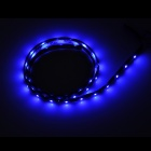 13.5W 270lm 490nm 45-SMD 1210 LED luz azul coche tira flexible - negro (12V / 90cm)