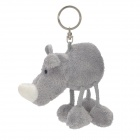 Cute Rhino Style Fiber Cotton Keychain - Grey