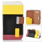 Lichee Pattern Protective PU Leather Case Stand w/ Card Slot for Samsung Galaxy S3 i9300 - Black