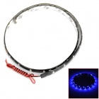 Waterproof 9W 180lm 460~475nm 30-SMD 1210 LED Blue Light Flexible Light Strip - Black (12V / 60cm)