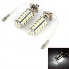 M201301062 H3 4W 300lm 68-SMD 3528 LED White Light Car Foglight / Rücklicht (DC 12V / 2 PCS)