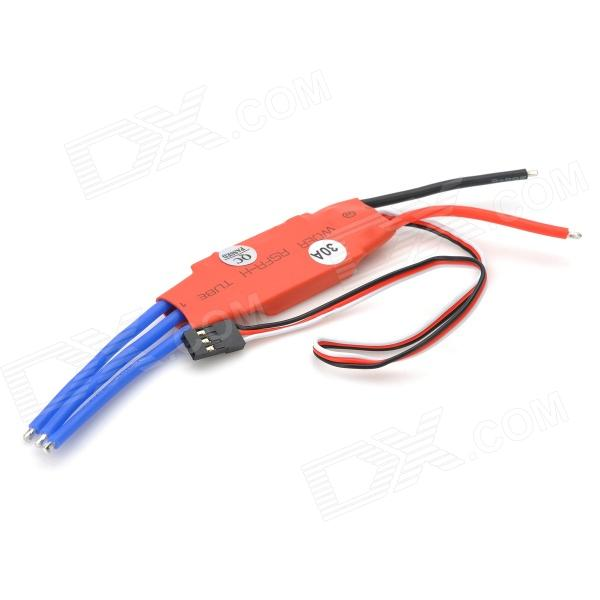 30A Four-Axis Brushless Motor Speed Controller w/ BEC for R/C Helicopter - Red