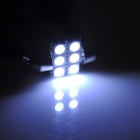 Festoon 31mm 1.8W 66lm 6-SMD 5050 LED White Light Car Interior / Reading Lamp (DC 12V / 2 PCS)