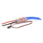 30A Four-Axis Brushless Motor Speed Controller w/ BEC for R/C Helicopter - Red + Transparent