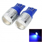 SENCART T10 1.5W 110lm 90~110nm LED Blue Light Car Lamps - (DC 12~16V / 2 PCS)