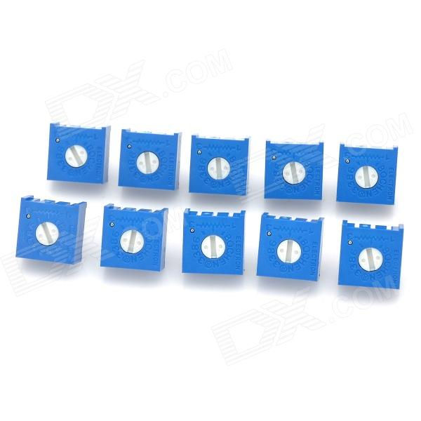 2Kohm Potentiometer Adjustable Resistors Set - Blue (10 PCS)