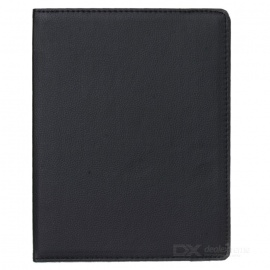 360 Degrees Rotation Protective PU + ABS Case for Ipad 2 - Black