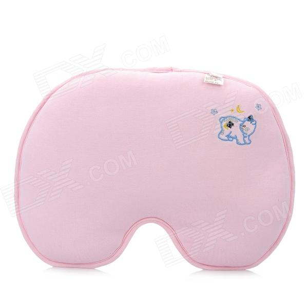Bamboo Fiber + Spandex Shaping Pillow for Baby - Pink