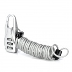 3-Digit Combination Padlock w/ Steel Wire - Silver