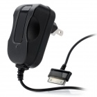 AC Power Adapter w/ 30-Pin Male Cable for Samsung Galaxy Note 10.1 N8000 - Black (2-Flat-Pin Plug)