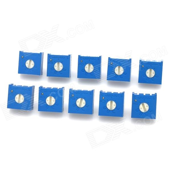 10Kohm Potentiometer Adjustable Resistors Set - Blue (10 PCS)