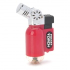 Mini Angle Head Plastic + Iron Wind Resistant Butane Jet Lighter - Red
