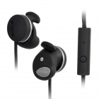 Stressless 501S In-Ear Earphone w/ Microphone for iPhone 4S - Black (3.5mm Plug / 130cm)