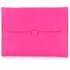 Protective PU Leather Case Pouch for iPad 4 / The New iPad - Deep Pink