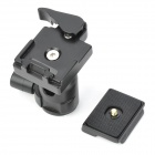 YE-306 Aluminium Magnesium Alloy Ball Head w/ Quick Release Plate Adapter - Black