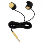 Stressless 501S In-Ear Earphone w/ Microphone for iPhone 4S - Golden + Black (3.5mm Plug / 130cm)