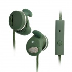 Stressless 501S In-Ear Earphone w/ Microphone for iPhone 4S - Army Green (3.5mm Plug / 130cm)