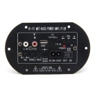 HY-680 DC /AC Subwoofer MP3 Decoding Amplifier Board w/ TF - Black + Silver + Green