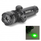 LG-01 Aluminum Alloy 5mW Green Laser Rifle Scope Gun Sight w/ Gun Mount - Black (1 x 16340)