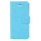 Football Grain Style Protective PU + TPU Case for Iphone 5 - Blue