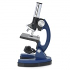 Pentaflex P-1200 Portable Biological Teaching Microscope w/ 1200X Magnifier for Kids - Blue + Black