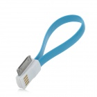 USB to 30-Pin Charging / Data Magnetic Cable for iPhone 4 / 4S / 3GS - Blue (22.4cm)