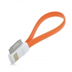USB to 30-Pin Charging / Data Magnetic Cable for iPhone 4 / 4S / 3GS - Orange (22.4cm)