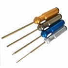 Tarot Titanium Alloy Steel 1.5mm / 2.0mm / 2.5mm / 3.0mm Hex Screw Driver for R/C Helicopter (4 PCS)