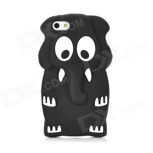 Protective Cute 3D Elephant Style Silicone Case for Iphone 5 - Black Louisville Buy Sell