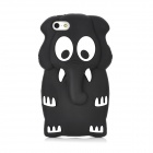 Protective Cute 3D Elephant Style Silicone Case for iPhone 5 - Black