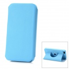 Protective Swivel 360 Grad drehbaren PU-Leder Etui für das iPhone 5 - Light Blue