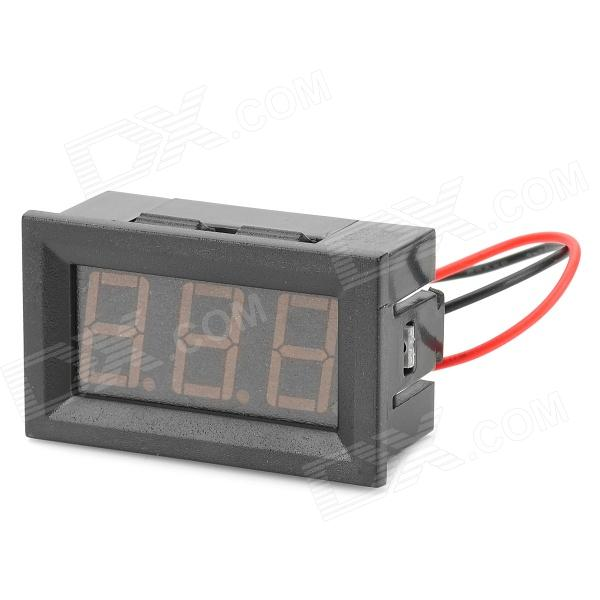 V27D 0.56 LED 3-Digit Direct-Current Voltmeter Meter Module - Black + Red (DC 2.5~30V) w04 0 28 led red light digital voltmeter module black dc 2 50 30v