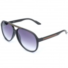 OREKA Fashion PC Lens Sunglasses - Black + Grey