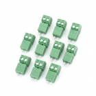 2EDG-3.81-2T Block Terminal Connectors - Green (10 PCS)