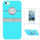 Protective Plastic Back Case for Iphone 5 - Blue