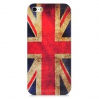 Protective Union Jack Pattern Plastic Case for Iphone 5 - Deep Blue + Red + Beige