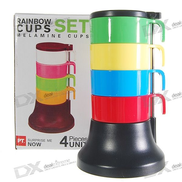 Colorful Stacking Set Cups (4-Cups) - DXCups &amp; Bottles<br><br>