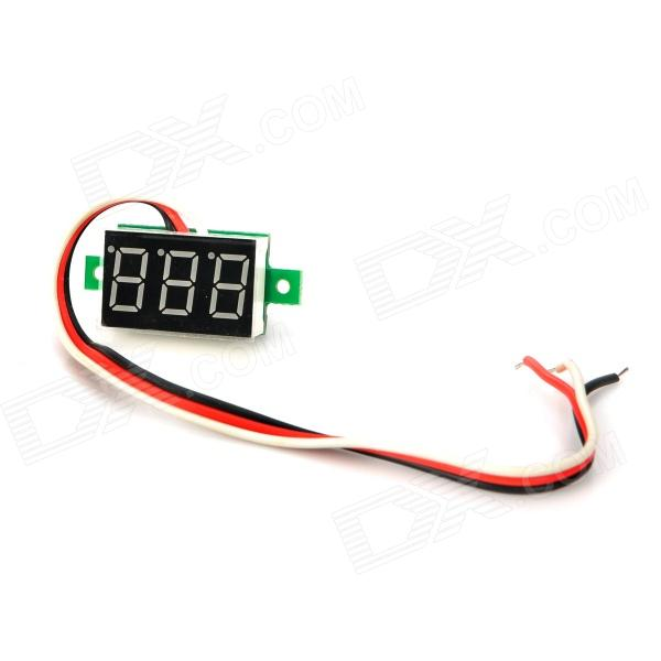 V20D 0.36 LED 3-Line 3-Digital Direct-Current Voltmeter Meter Module - White + Green (DC 0~100V) aluminum project box splitted enclosure 25x25x80mm diy for pcb electronics enclosure new wholesale