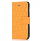 Protective Flip Open PU Leather + Inner TPU Case for Iphone 5 - Yellow