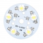 GY-QP-5 5W 90~120lm 6000~6500K 5-LED White Light Module w/ Power Supply Driver - Silver + White