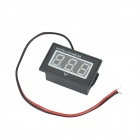 "V40D Waterproof 0.56"" LED 3-Digital Direct-Current Voltmeter - Black + White (DC 15~120V)"