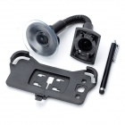 Car Swivel Suction Cup Mount Holder w / Capacitive Stylus Pen for Samsung Galaxy S3 - Black