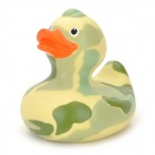 Cute Funny Floating Baby Resin Duck Bath Toy - Camouflage Green