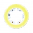3W 285~315lm 6000K White Light COB LED Module - Yellow + Silver (9~11V)