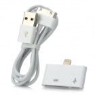Apple 30 Pin / Micro USB to 8 Pin Lightning Adapter w/ Apple 30 Pin Charging & Data Cable - White