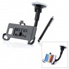 Car Swivel Suction Cup Mount Holder w/ Stylus Pen for Samsung Galaxy S2 - Black
