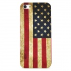 Protective American National Flag Pattern Kunststoff-Gehäuse für iPhone 5 - Deep Blue + Red + Grau Gelb